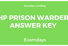 HP Prison Warder Answer Key