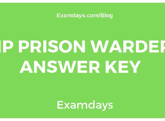 HP Prison Warder Answer Key