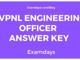 HVPNL Engineering Officer Answer Key