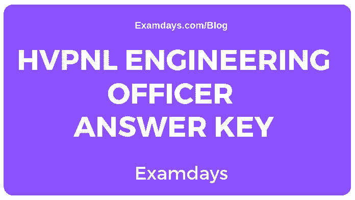 HVPNL Engineering Officer Answer Key