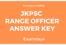 JKPSC Range Officer Answer Key