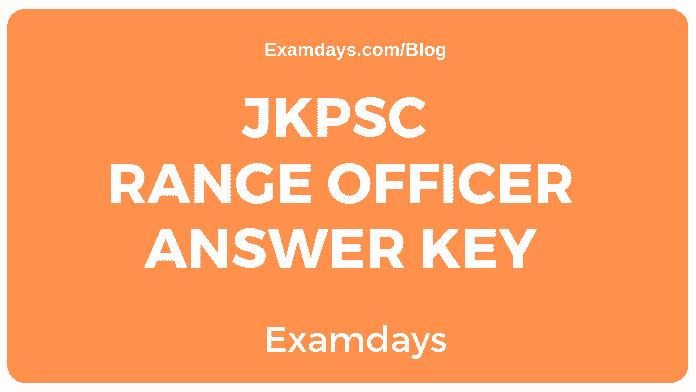JKPSC Range Officer Answer Key