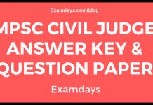 MPSC Civil Judge Answer Key