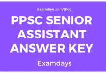 PPSC Senior Assistant Answer Key
