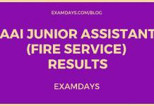 aai junior assistant result