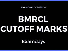 bmrcl cutoff marks