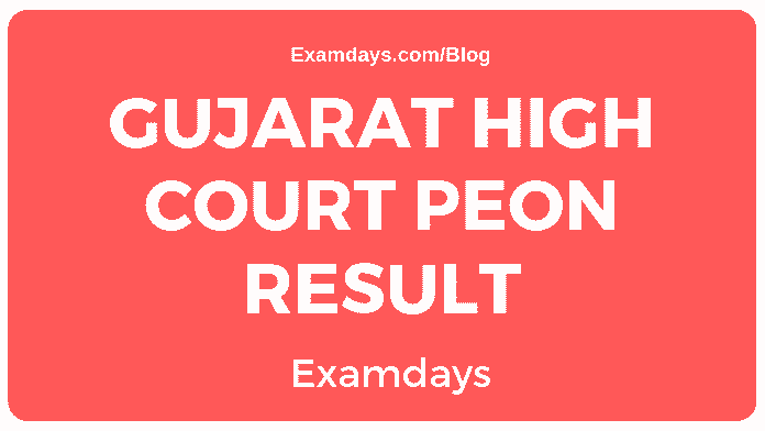 gujarat high court peon result
