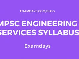 mpsc engineering services syllabus