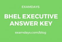 BHEL Executive Answer Key