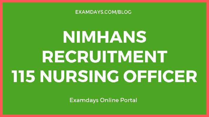 NIMHANS recruitment