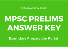 mpsc prelims answer key