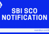 sbi sco notification
