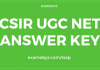 csir ugc net answer key
