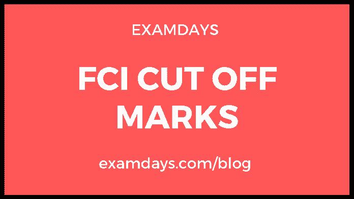 fci cutoff marks