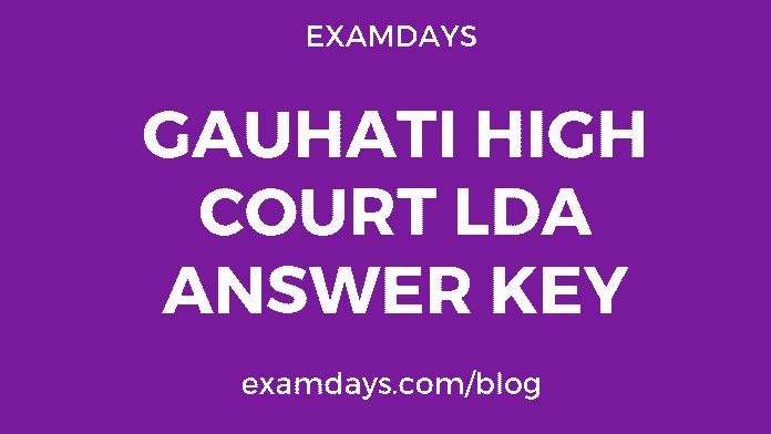 gauhati high court lda answer key