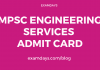 mpsc engineering services 2019 hall ticket