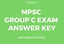 mpsc group c exam answer key