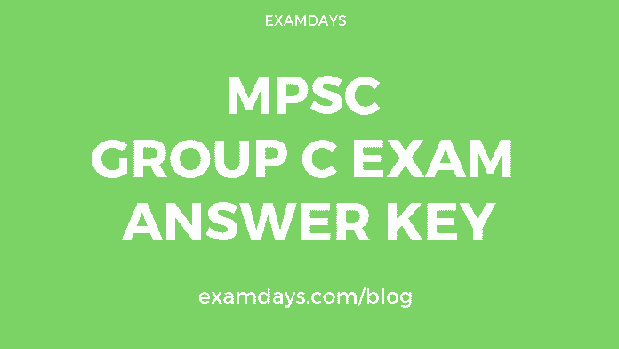 mpsc group c exam answer key