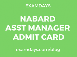 nabard assistant manager admit card