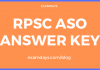 rpsc aso answer key