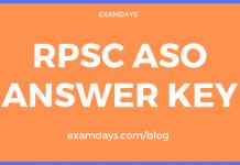 rpsc aso answer key
