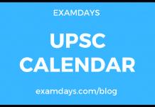 upsc calendar