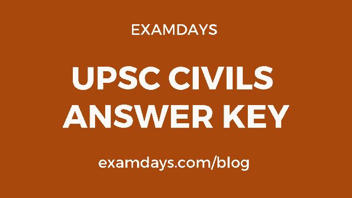 upsc civils answer key