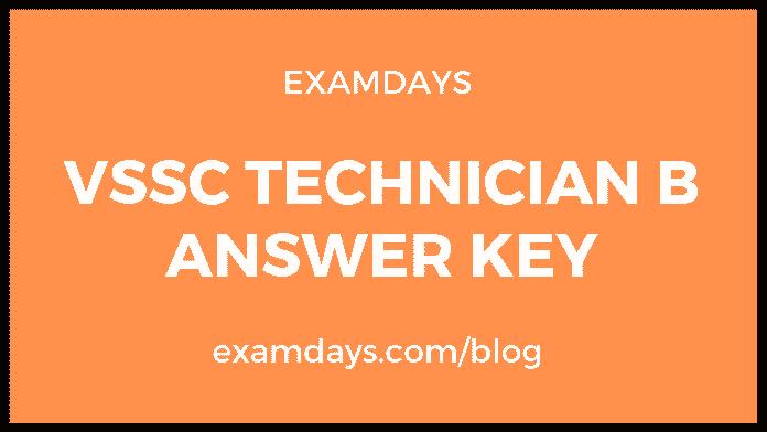 vssc technician answer key