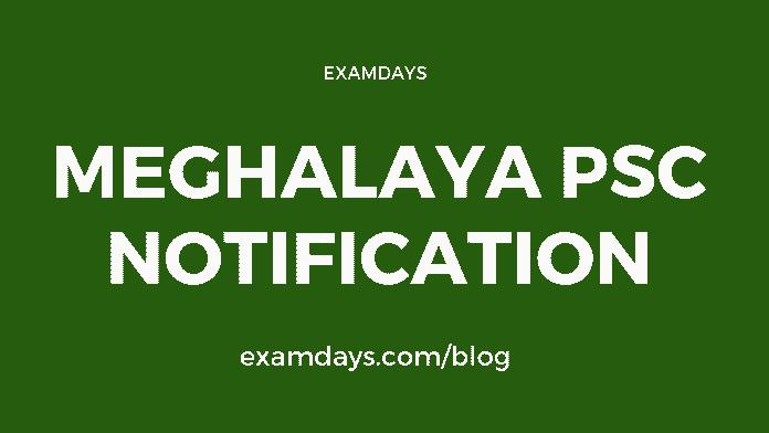 meghalaya psc notification