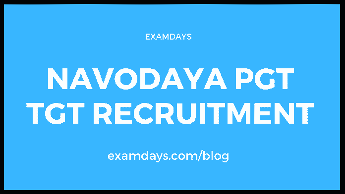 navodaya pgt tgt recruitment