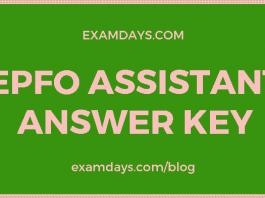 epfo assistant answer key
