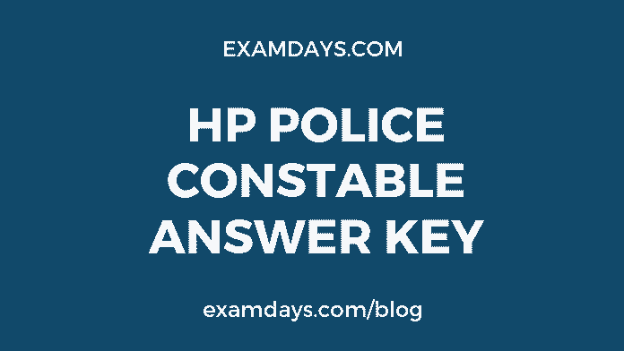 hp police constable answer key