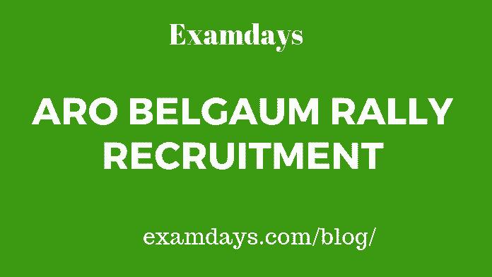 ARO Belgaum Rally Recruitment