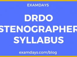 drdo stenographer syllabus