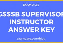 gsssb supervisor instructor answer key
