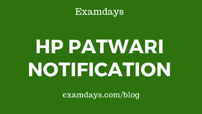 hp patwari notification 2019 pdf