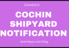 cochin shipyard notification