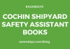cochin shipyard safety assistant books