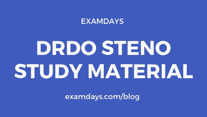 drdo steno study material