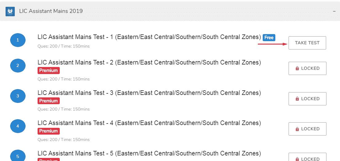 lic free online tests