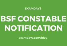bsf constable notification