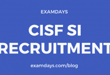 cisf si notification