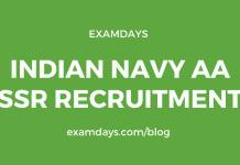 indian navy aa ssr notification