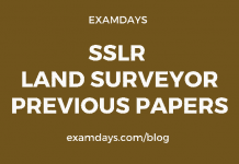 SSLR Land Surveyor Previous Papers