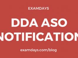 dda aso notification
