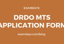 drdo mts application form