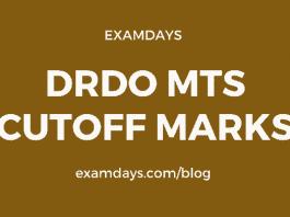 drdo mts cutoff marks