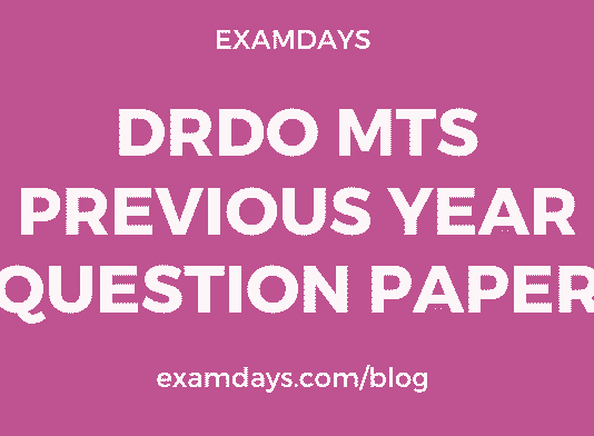 drdo mts previous year paper