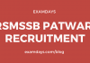rsmssb patwari recruitment