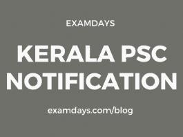 kerala psc notification